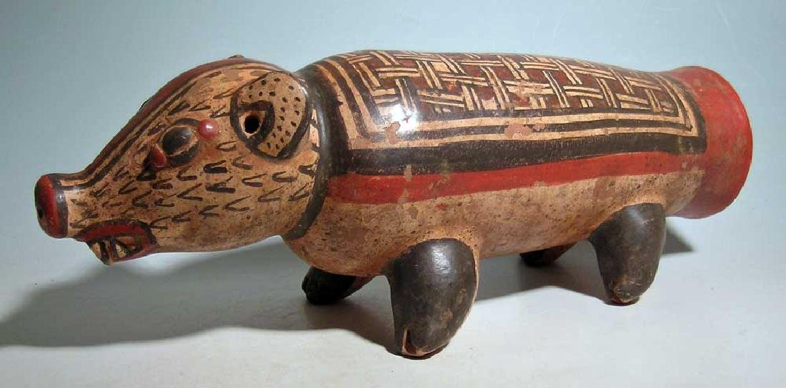 Marvelous Nicoya zoomorphic effigy drum from Costa Rica - 2