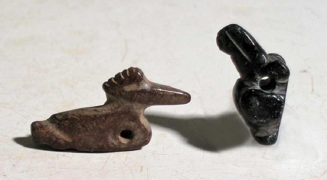 Pair of Tairona avian pendants from Colombia