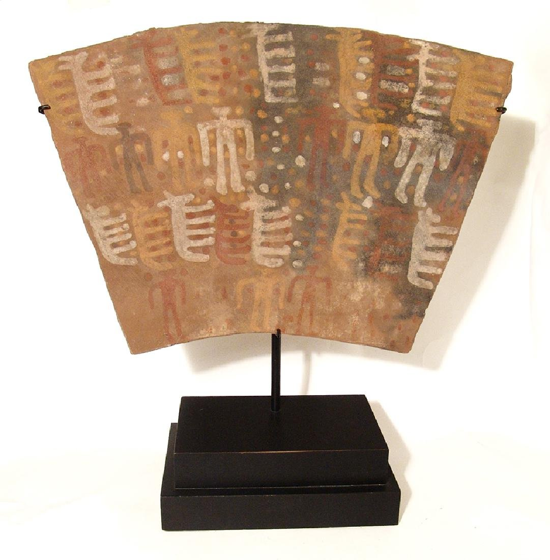A Chuco ceramic tablet, c. 13th Century