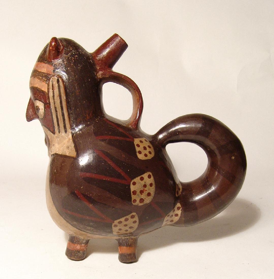 An attractive Nazca anthropomorphic stirrup bottle - 5