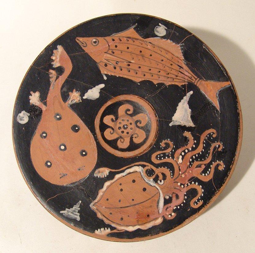 A fantastic Greek red-figure fish plate, Campania - 3