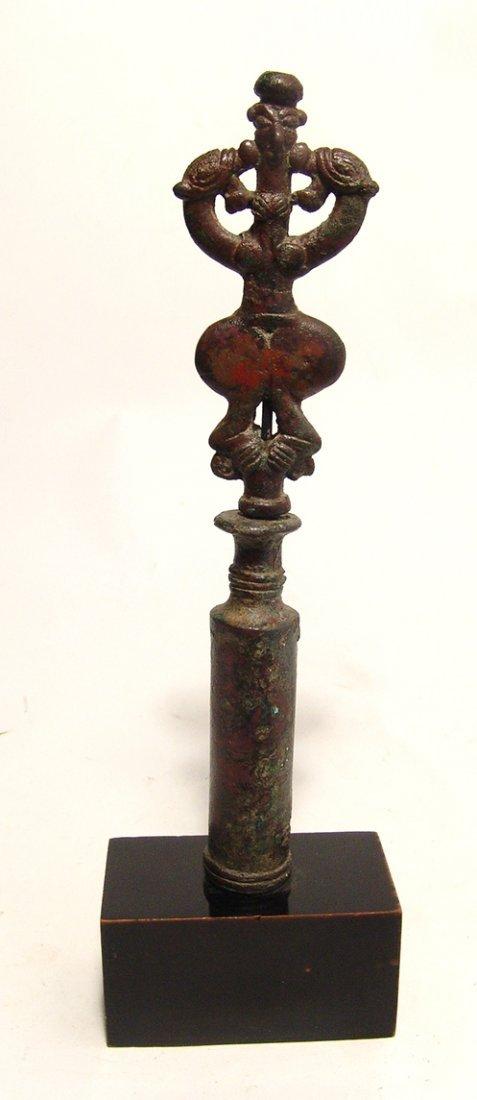 A choice Near Eastern bronze finial - 3
