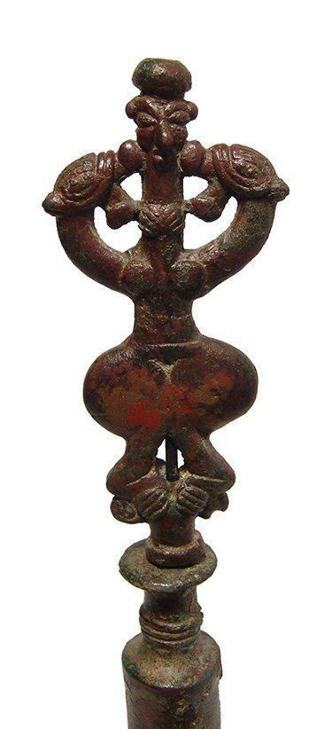 A choice Near Eastern bronze finial - 4