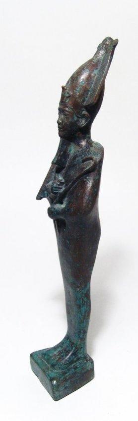 A large and impressive Egyptian bronze figure of Osiris - 3