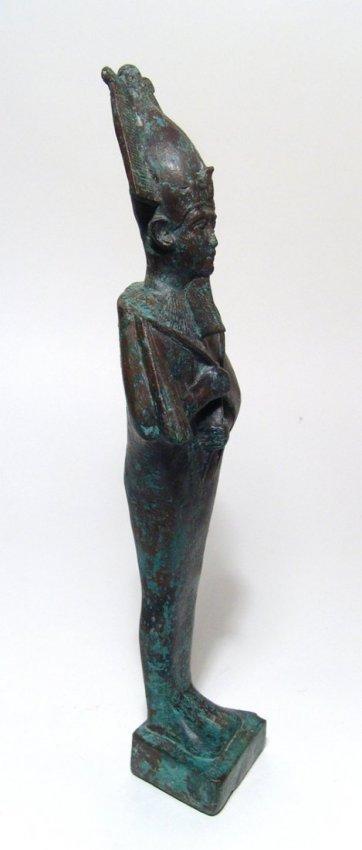 A large and impressive Egyptian bronze figure of Osiris - 4