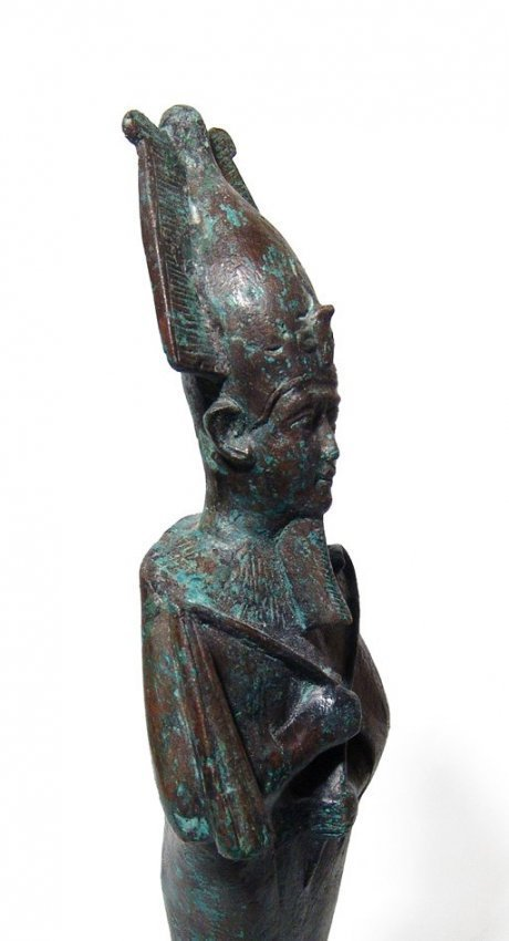 A large and impressive Egyptian bronze figure of Osiris - 5