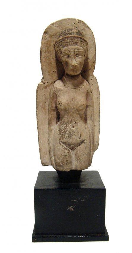Detailed Egyptian limestone figure of a concubine