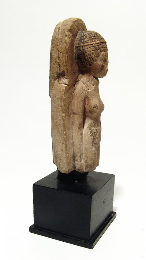 Detailed Egyptian limestone figure of a concubine - 2