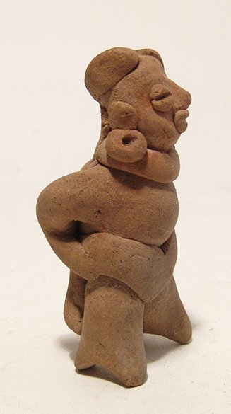 A choice Colima miniature whistle of a ball player - 2