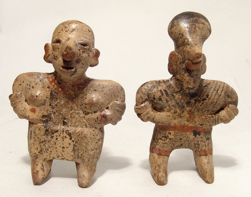 An attractive Nayarit ceramic couple, West Mexico