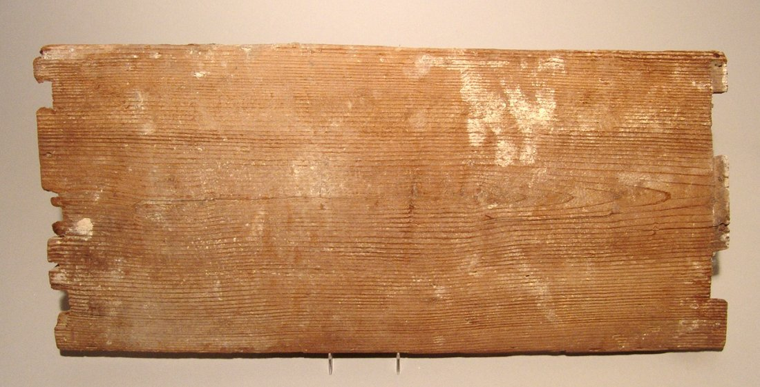 A beautiful Egyptian painted wood panel, Late Period - 2