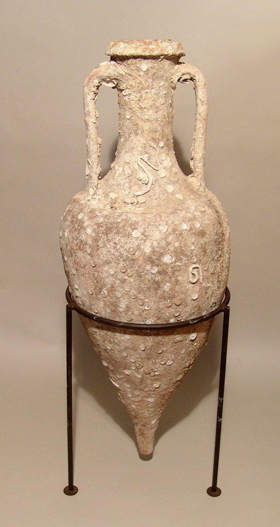 Magnificent Roman transport amphora and lid, Republic