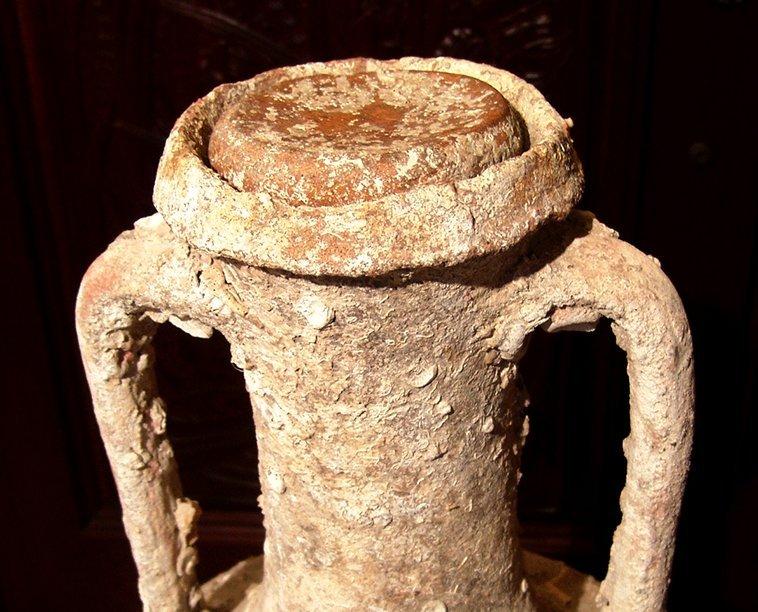 Magnificent Roman transport amphora and lid, Republic - 5