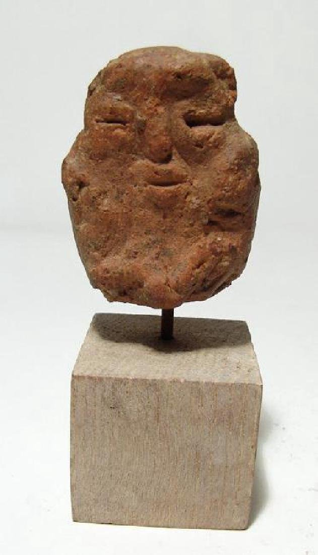 An Egyptian or Levantine terracotta depiction of Bes