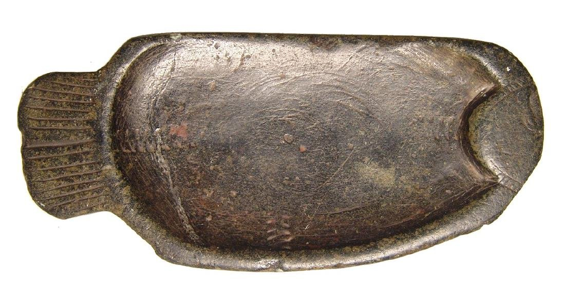 Egyptian serpentine cosmetic palette in form of a fish