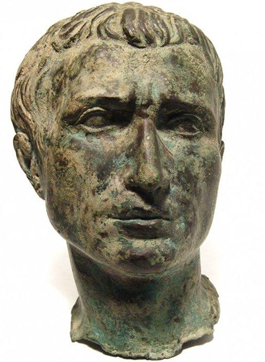 A stunning Roman bronze portrait bust , Late Republic