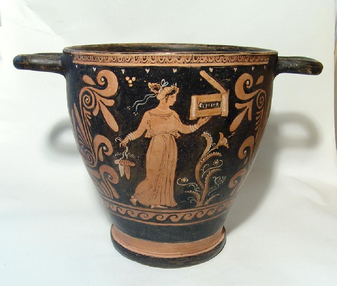 Very large and impressive Greek red-figure skyphos