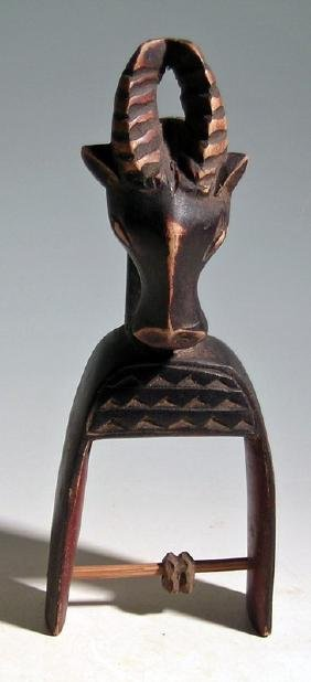 Guro heddle pulley from the Ivory Coast, West Africa