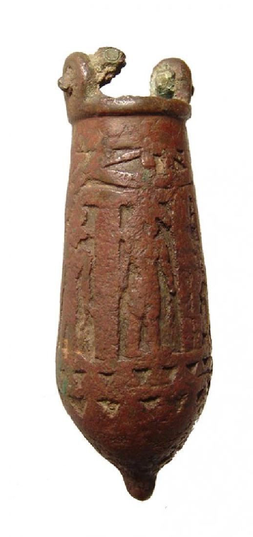A nice Egyptian bronze situla, Late Period