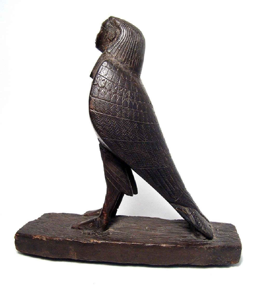 Beautiful Egyptian carved wood figure of a Ba-Bird