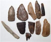 A lot of 11 Egyptian Predynastic stone tools