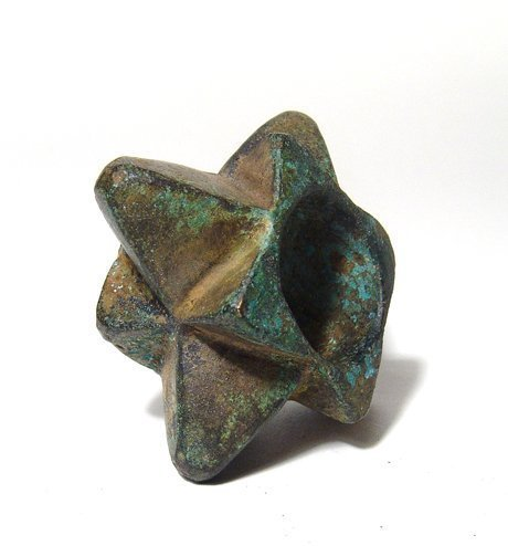 A nice Near Eastern bronze spiked mace-head - 2