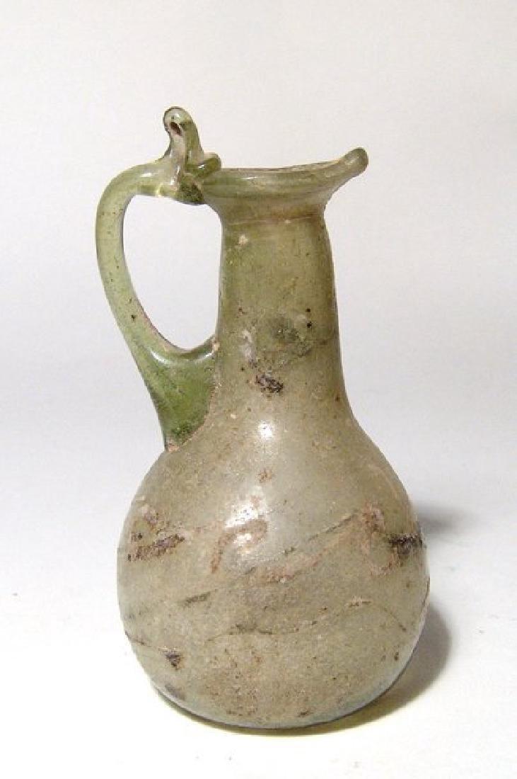 A nice Roman pale green glass pitcher - 2