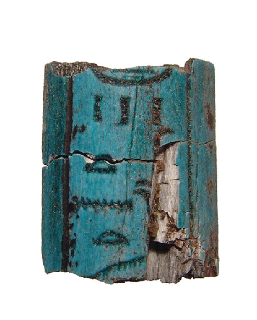 Egyptian stone staff section with hieroglyphic text - 2