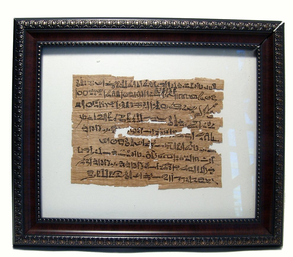 Wonderful Egyptian papyrus fragment with Hieratic text - 2