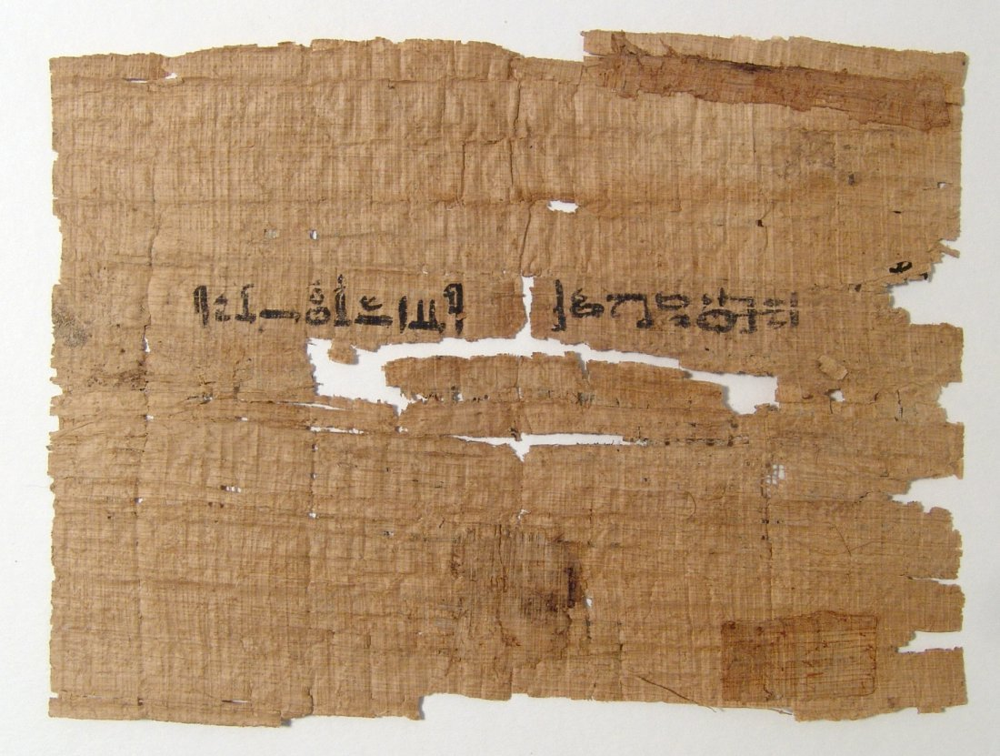 Wonderful Egyptian papyrus fragment with Hieratic text - 3