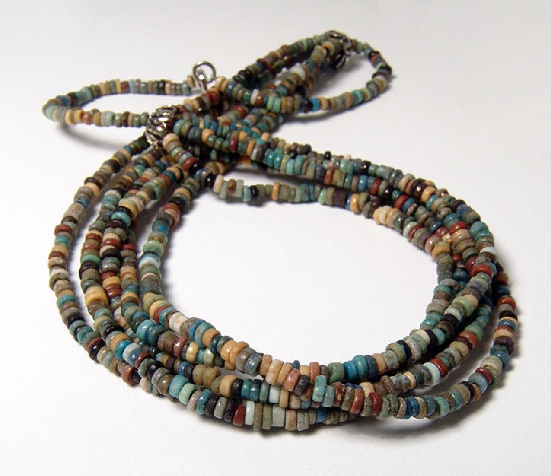 Egyptian faience beaded necklace, Late Period
