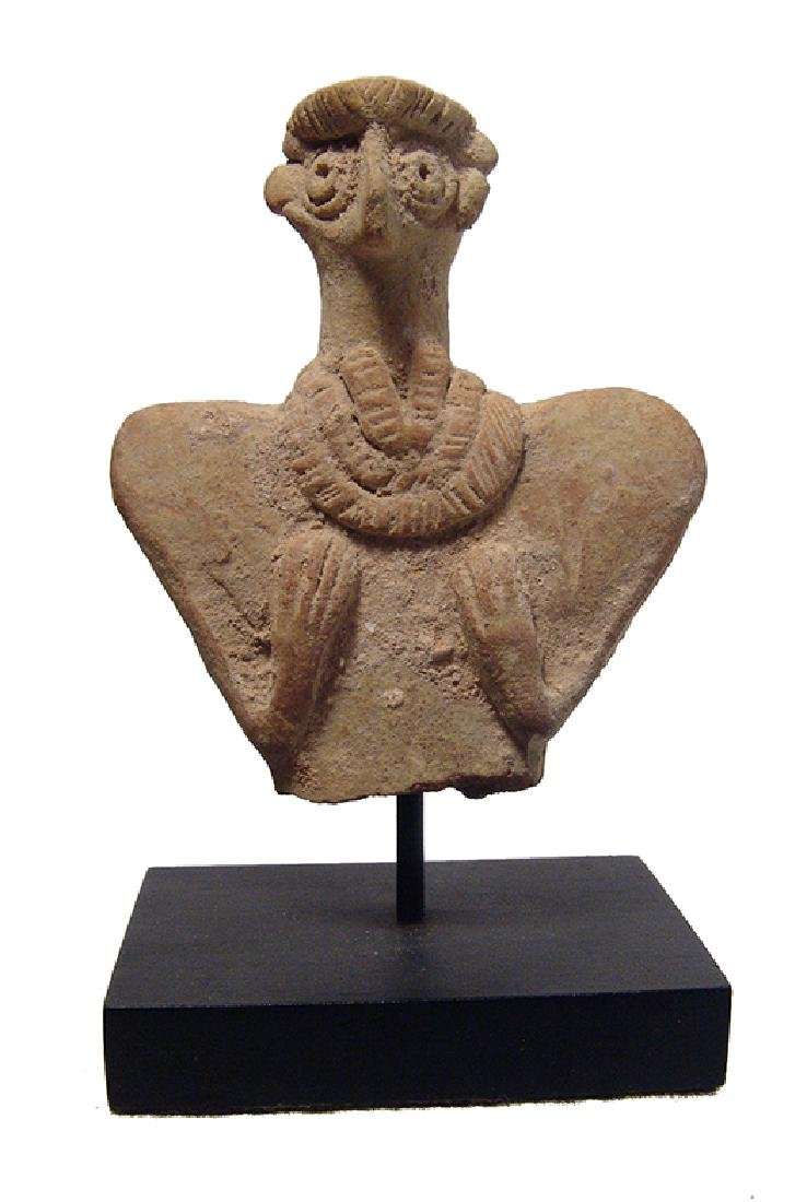A detailed Near Eastern terracotta bust of Astarte