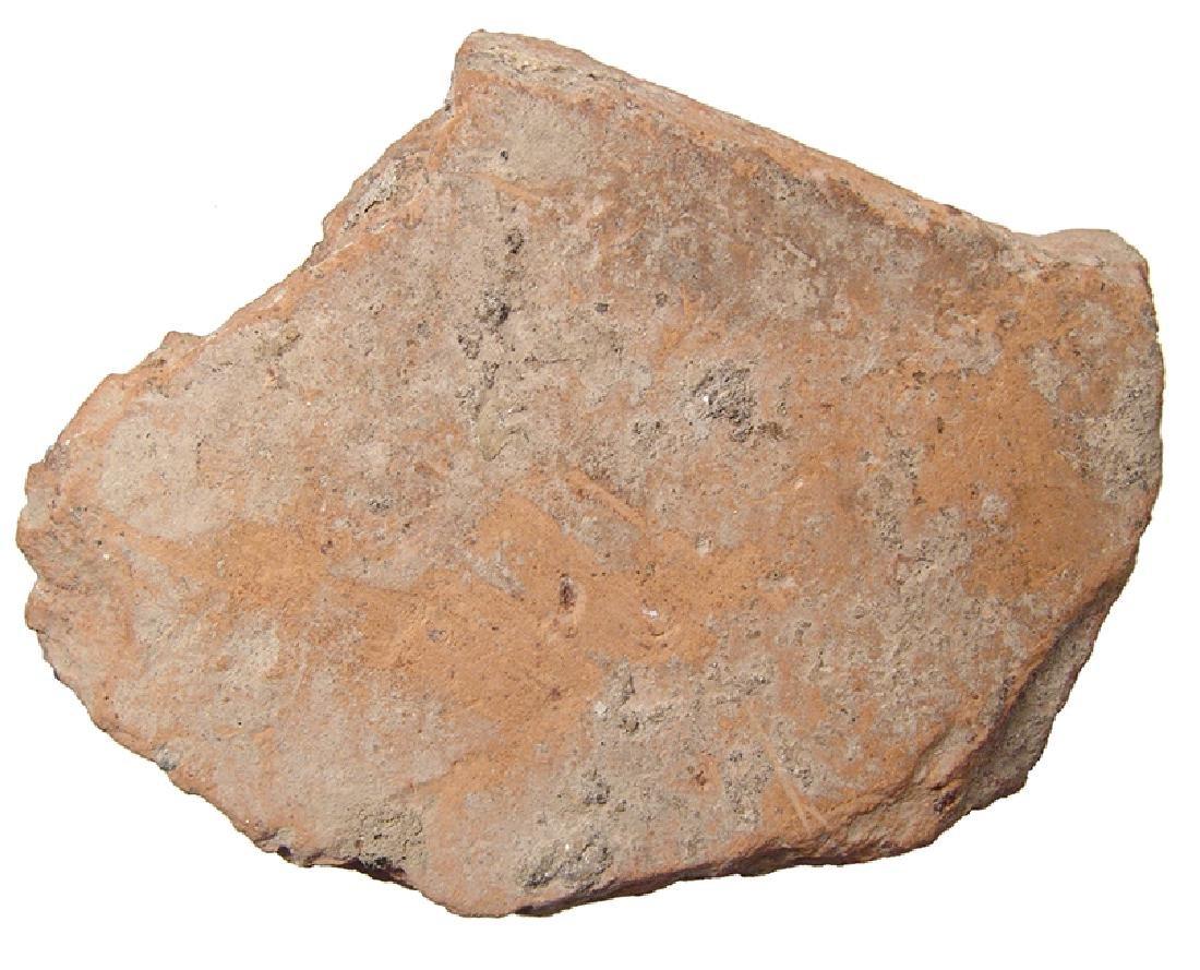 Roman terracotta antefix fragment depicting Silenus - 3