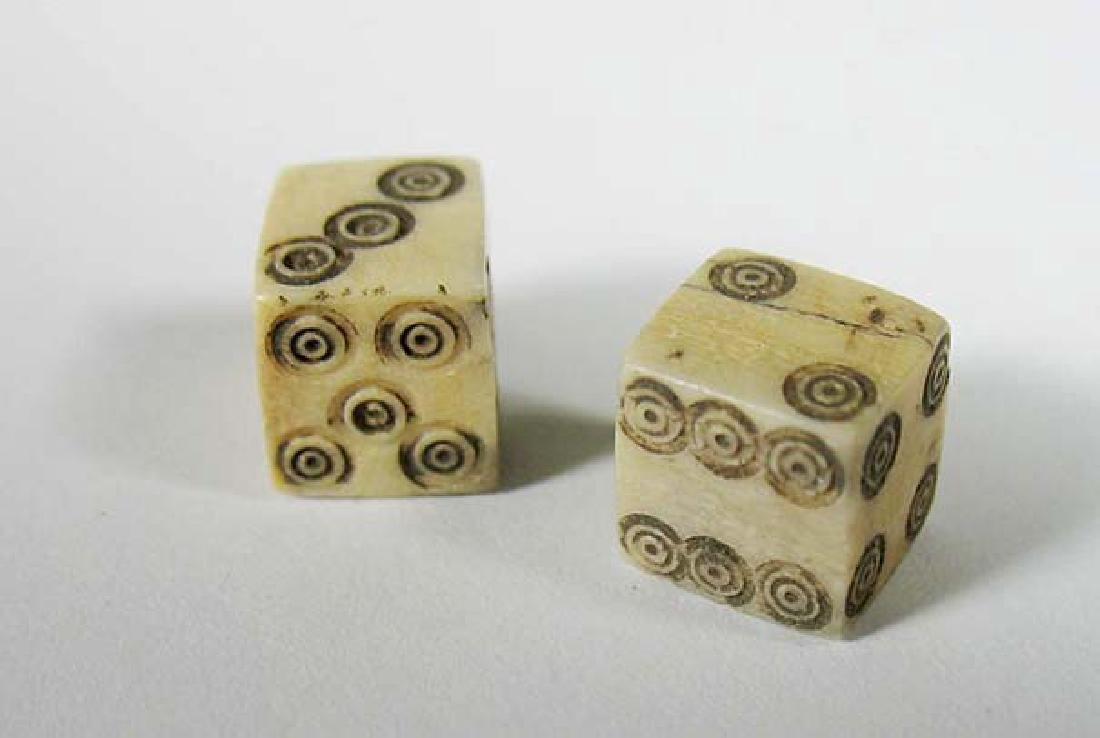 A nice pair of Roman bone dice