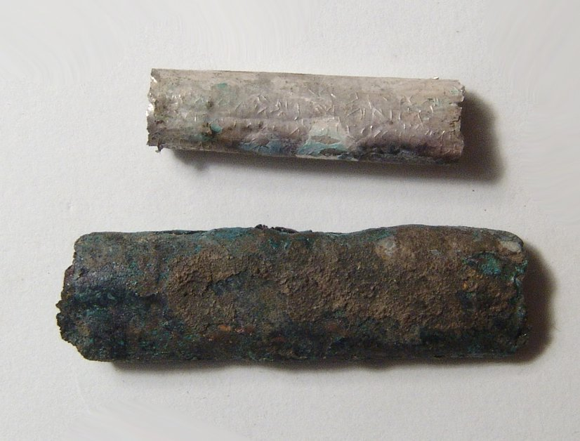 A silver Judean scroll with bronze case - 4