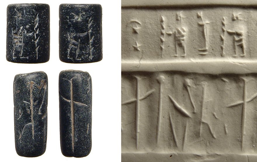 A pair of ancient cylinder seals