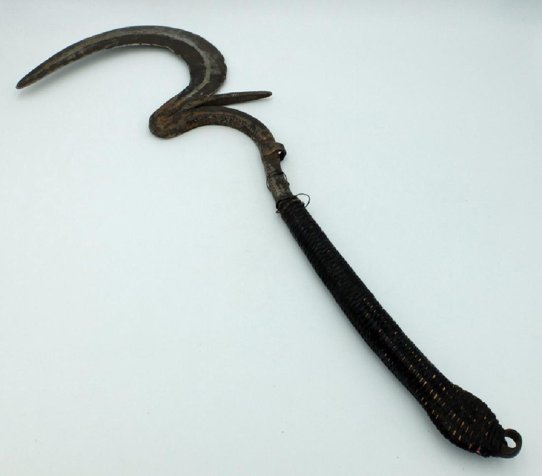 Iron currency throwing knife, Matakam people