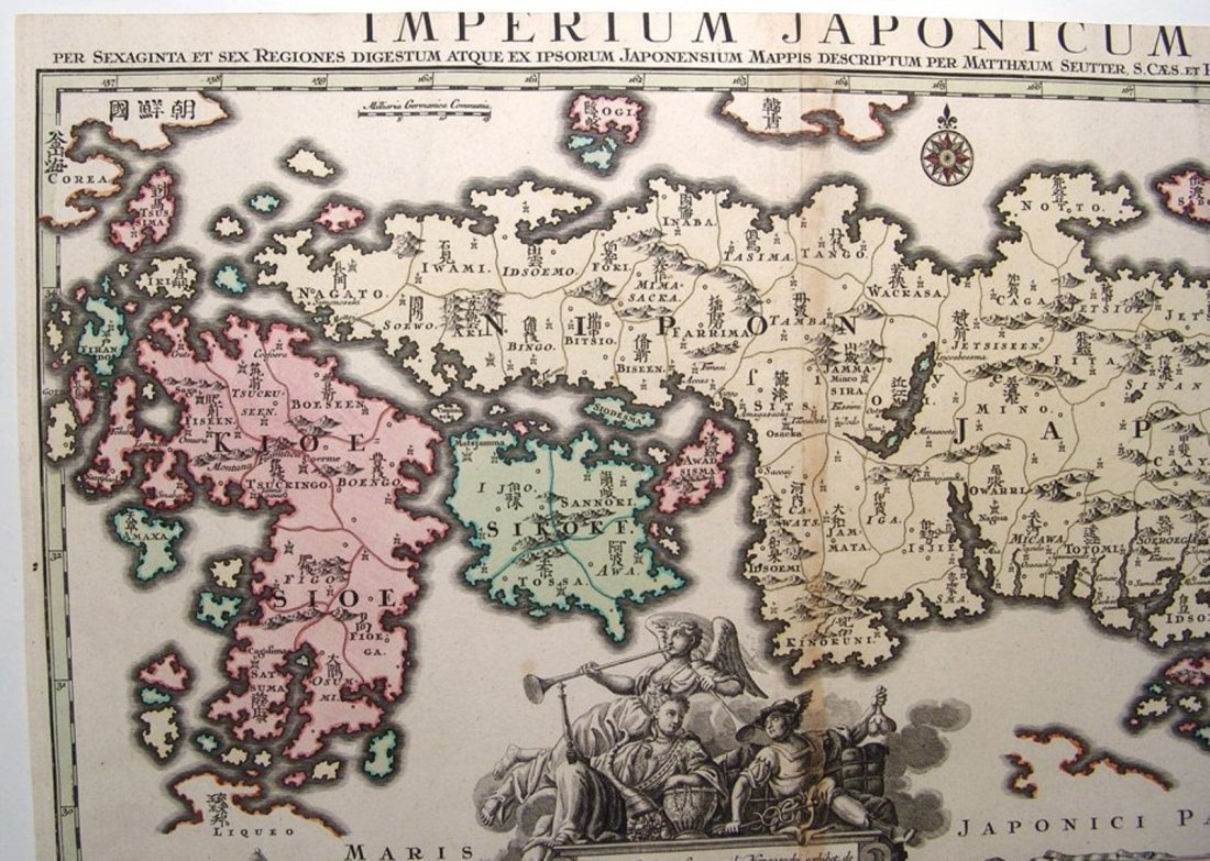 Large and impressive 18th C. map of the Empire of Japan - 3