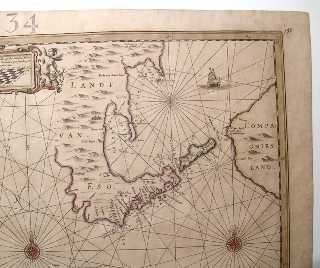 Fantastic Dutch 17th C. map of Japan & adjacent islands - 3