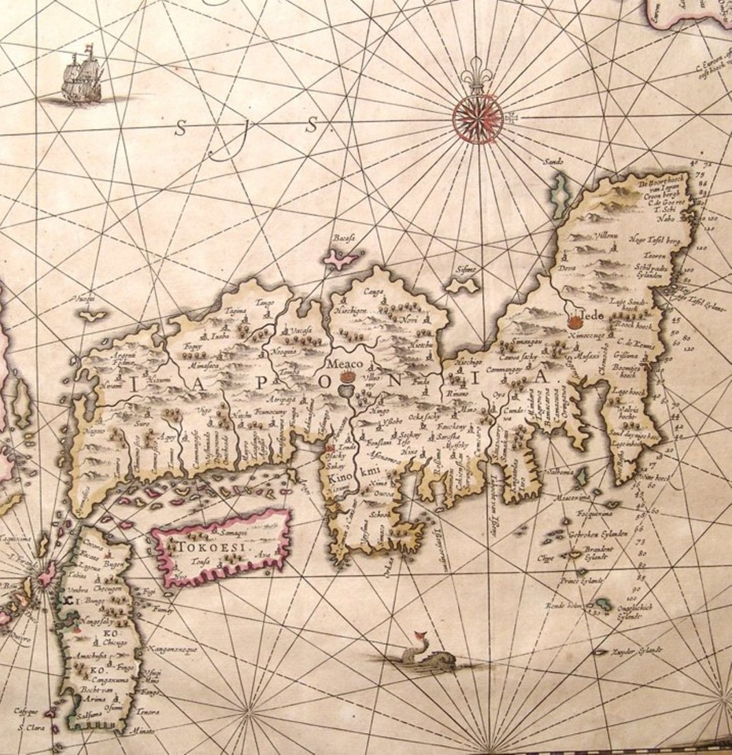 Fantastic Dutch 17th C. map of Japan & adjacent islands - 4