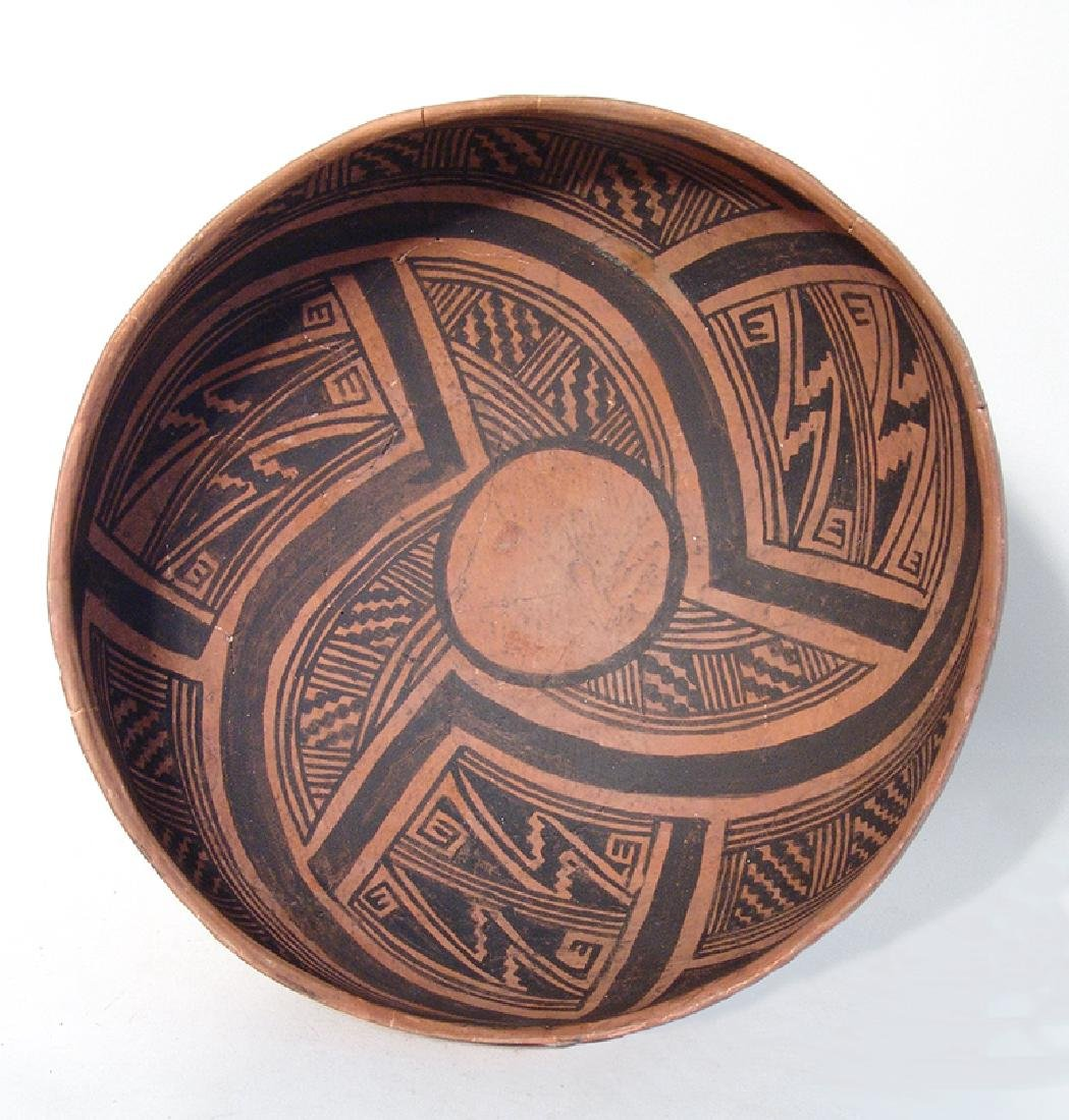 A beautiful Winslow black on orange large bowl