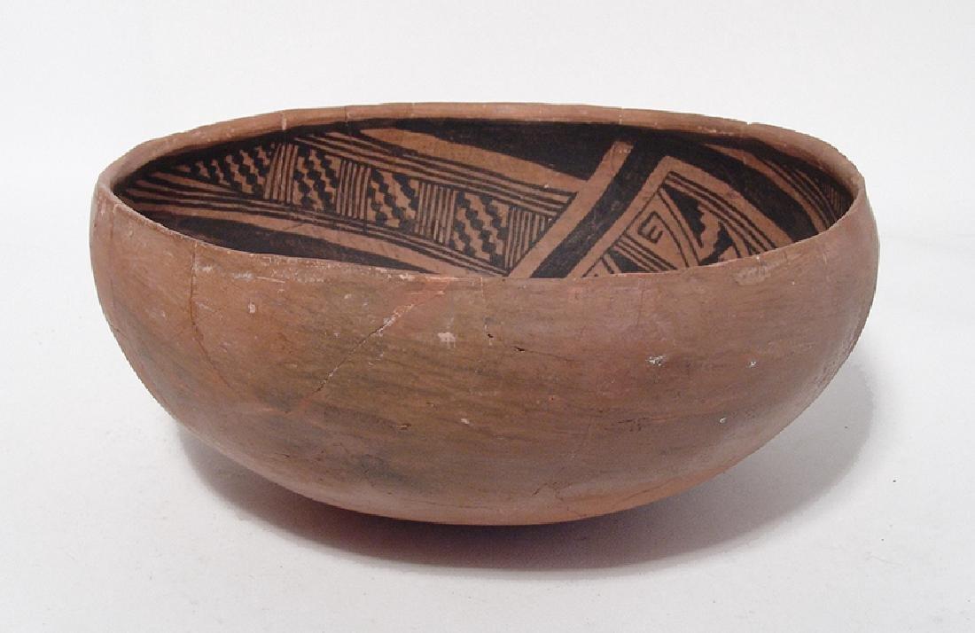 A beautiful Winslow black on orange large bowl - 2