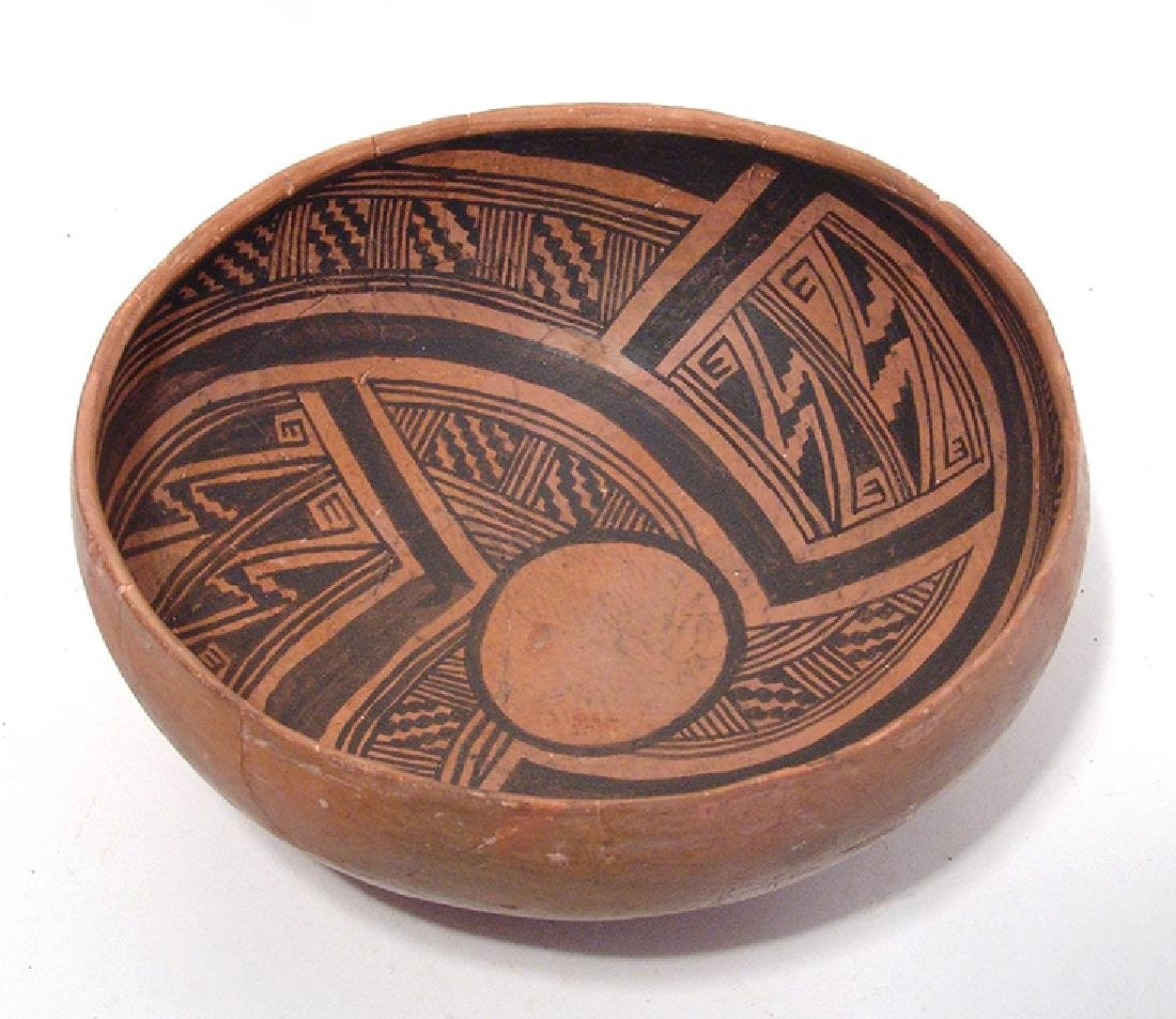 A beautiful Winslow black on orange large bowl - 3
