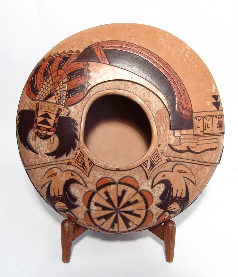 Hopi ceramic seed pot by Delmar Polacca Nampeyo