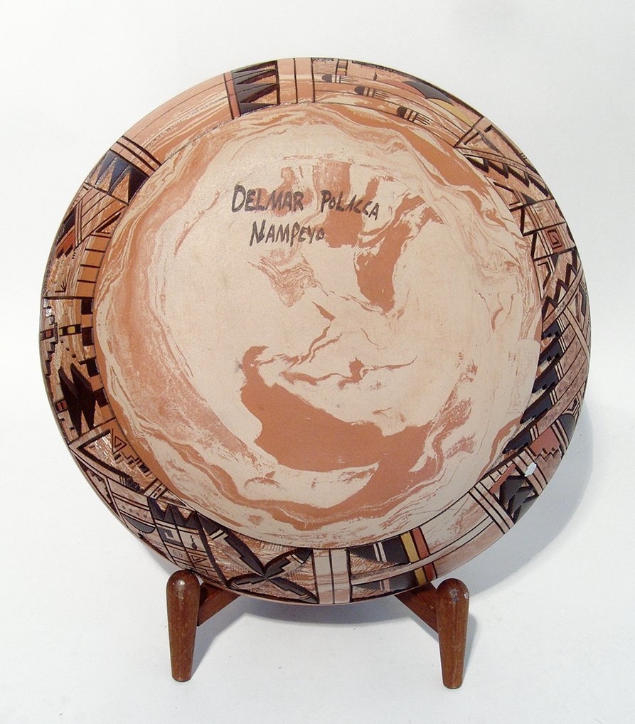 Hopi ceramic seed pot by Delmar Polacca Nampeyo - 2