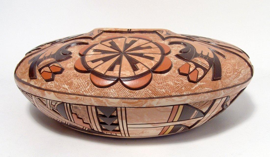 Hopi ceramic seed pot by Delmar Polacca Nampeyo - 3