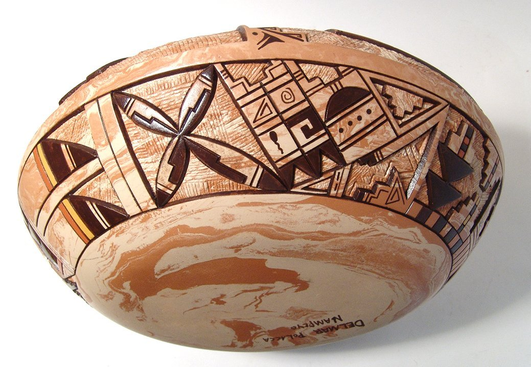 Hopi ceramic seed pot by Delmar Polacca Nampeyo - 5