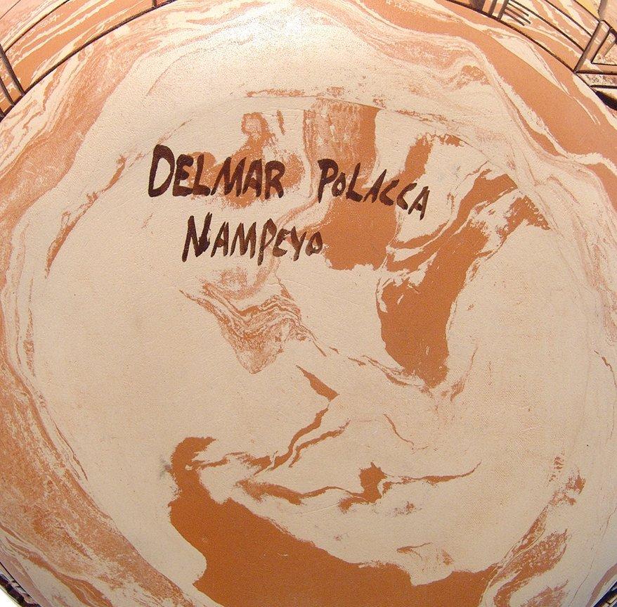 Hopi ceramic seed pot by Delmar Polacca Nampeyo - 9