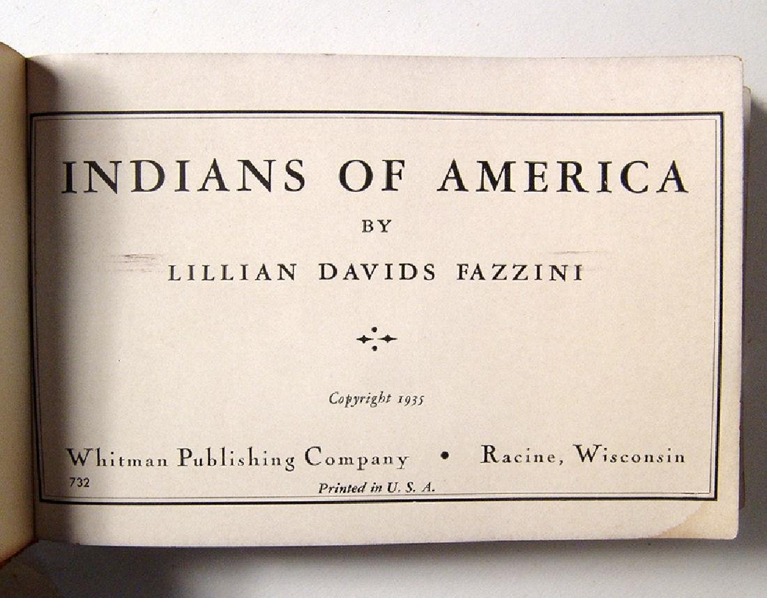 Cute antique book entitled 'Indians of America' - 3