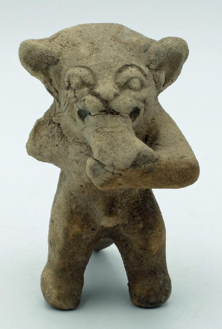 Excellent La Tolita Jaguar deity effigy from Ecuador